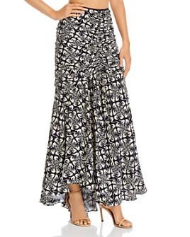 Amur - Koko Tiered Floral-Print Skirt
