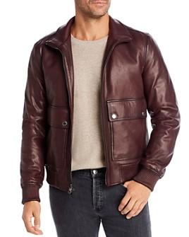 Michael Kors - Leather Bomber Jacket
