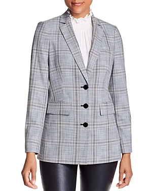 Karl Lagerfeld Paris Plaid Blazer