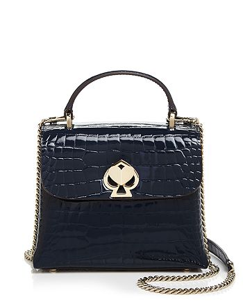 kate spade new york - Romy Small Crocodile-Embossed Patent Leather Satchel
