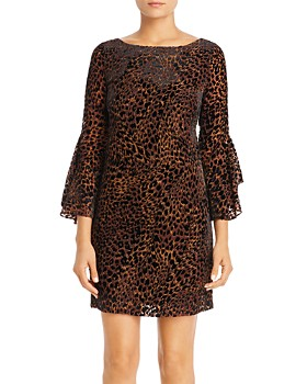 Elie Tahari - Esmarella Leopard Velvet-Burnout Dress