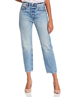 Frame Jeans LE ORIGINAL HIGH-RISE STRAIGHT-LEG JEANS IN GLACIER