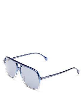 Gucci - Men's Brow Bar Aviator Sunglasses, 58mm