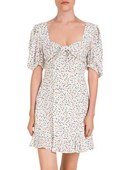 The Kooples - Confetti Hearts Ruffled Printed Mini Dress