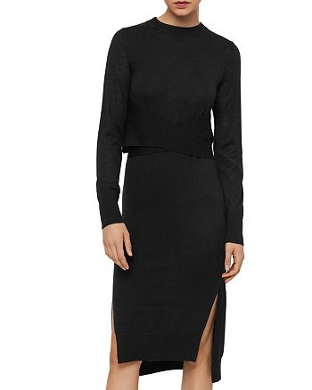 ALLSAINTS - Flora Merino Wool Sweater Dress