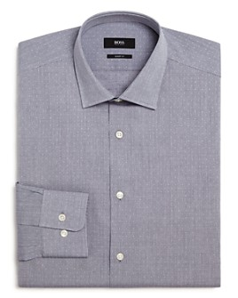 BOSS - Marley Micro-Dobby Regular Fit Dress Shirt