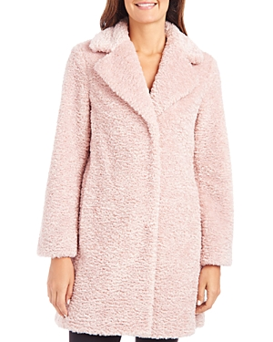 Vince Camuto Notched Collar Faux-Fur Coat-Women