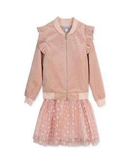 Pippa & Julie - Girls' Quilted Bomber Jacket & Dress Set - Baby