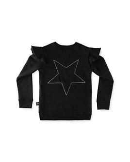 NUNUNU - Girls' Embroidered Star Sweatshirt - Big Kid