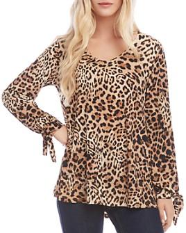 Karen Kane - Leopard-Print Tie-Sleeve Top