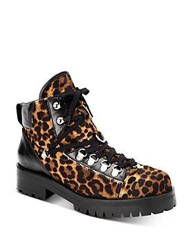 ALLSAINTS - Women's Lia Leopard-Print Combat Booties