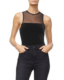 Good American - Sleeveless Velvet Bodysuit