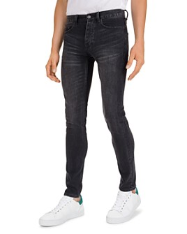 The Kooples - Japanese Denim Straight Slim Jeans in Black