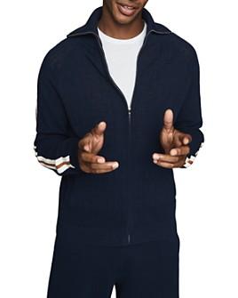 REISS - Baron Racer Stripe Zip Sweatshirt