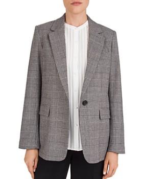 Gerard Darel - Valentina Plaid Single-Button Jacket