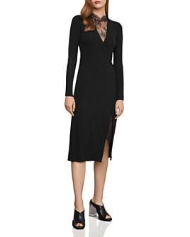 BCBGMAXAZRIA - Lace-Inset Midi Dress