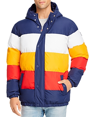 Fila Jackets GIOVANNI COLOR-BLOCK PUFFER JACKET