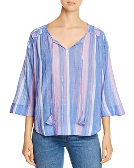 Tommy Bahama - Metallic-Stripe Top
