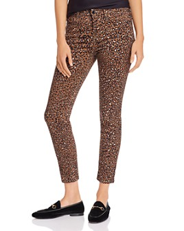 7 For All Mankind - Skinny Ankle Jeans in Wild Cheetah
