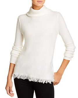 BeachLunchLounge - Sedona Frayed-Hem Turtleneck Sweater