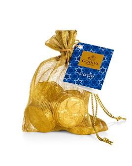 Godiva® - Hanukkah Gold Coin Bag, 8 Pieces