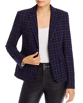 rag & bone - Nancie Wool-Blend Check Blazer