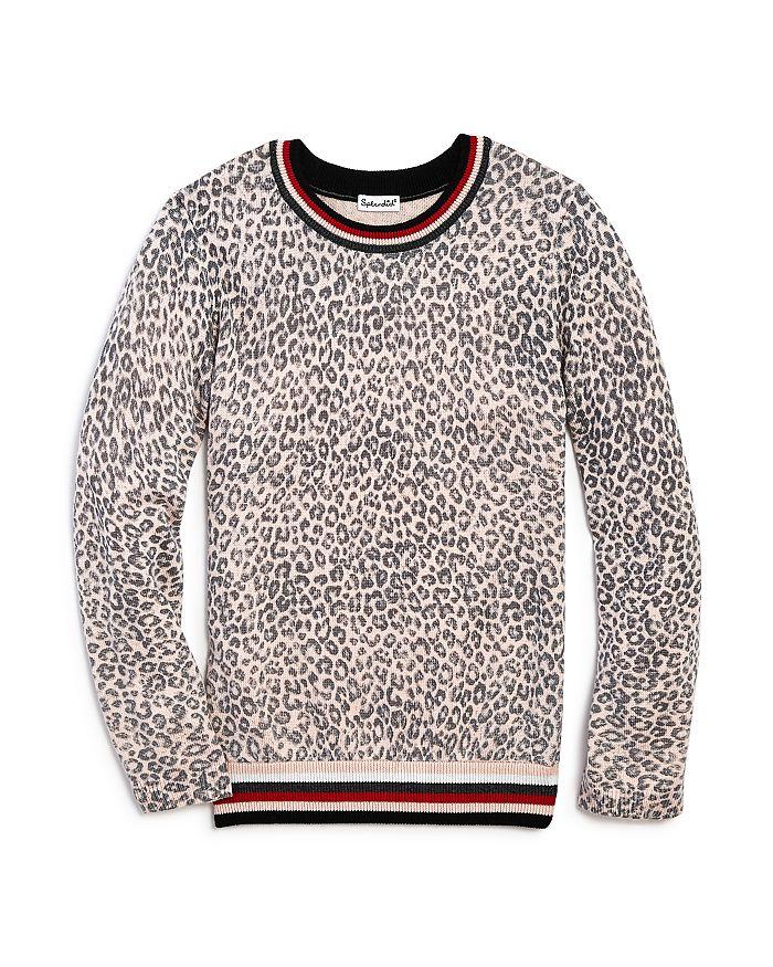 Splendid - Girls' Leopard-Pattern Sweater - Big Kid