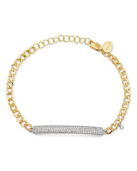 Meira T - 14K Yellow & White Gold Diamond Bar Bracelet