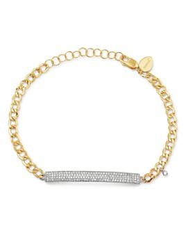 Meira T - 14K Yellow & White Gold Diamond Bar Bracelet