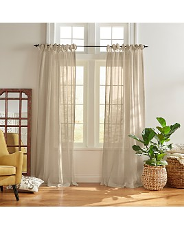 Elrene Home Fashions - Vienna Tie-Top Sheer Curtain Panel