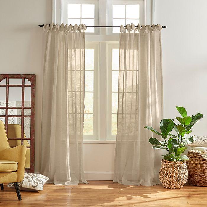 Elrene Home Fashions - Vienna Tie-Top Sheer Curtain Panel