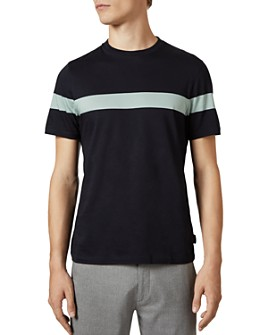 Ted Baker - Relaxa Striped Cotton Short Sleeve Tee
