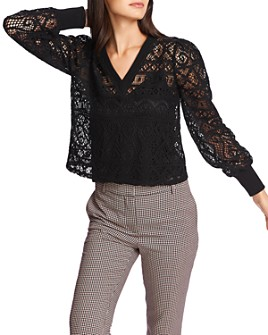 1.STATE - Lace V-Neck Top
