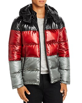 GUESS - Color-Block Puffer Jacket