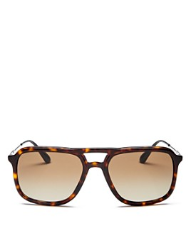 Prada - Men's Brow Bar Square Sunglasses, 54mm