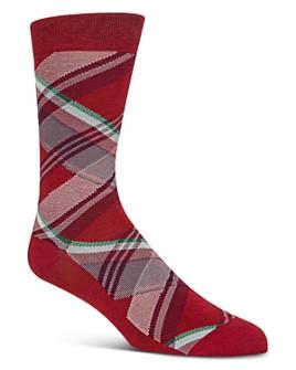 Cole Haan - Diagonal Plaid Crew Socks