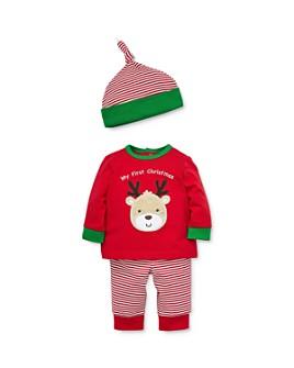 Little Me - Boys' Reindeer Tee, Jogger Pants & Hat Set - Baby