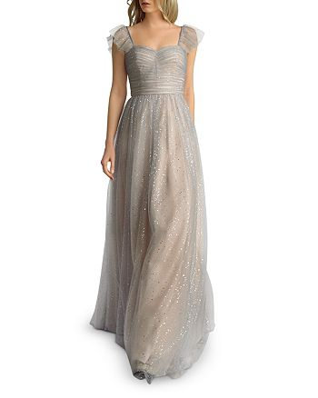 Basix - Glitter Fit-and-Flare Gown