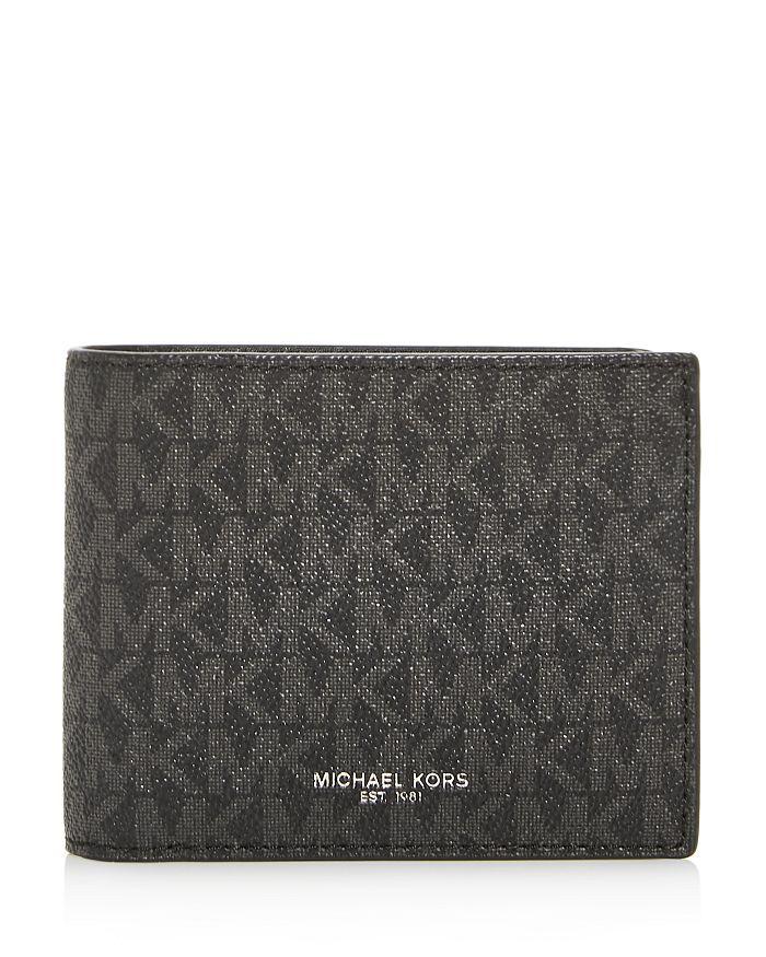 Michael Kors Jet Set Card Case & Bi-Fold Wallet In Black
