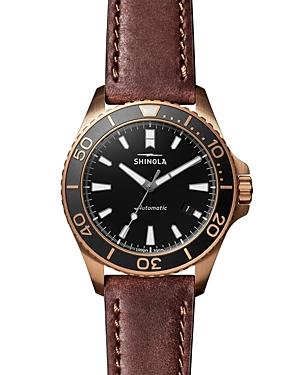 Shinola The Shinola Monster Brown Leather Strap Watch, 43mm-Jewelry & Accessories