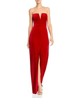 BCBGMAXAZRIA - Strapless Velvet Gown