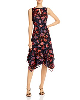 Sam Edelman - Floral Embroidered Midi Dress