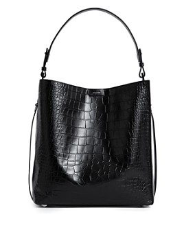 ALLSAINTS - Polly Croc-Embossed Large Leather Tote