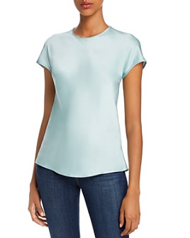 Helmut Lang - Satin Cap Sleeve Top