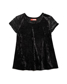 AQUA - Girls' Lace-Sleeve Velvet Top, Big Kid - 100% Exclusive