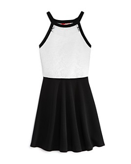 AQUA - Girls' Lace-Bodice Dress, Big Kid - 100% Exclusive