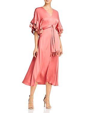 Sachin & Babi Jenny Tasseled Tie-Detail Midi Dress
