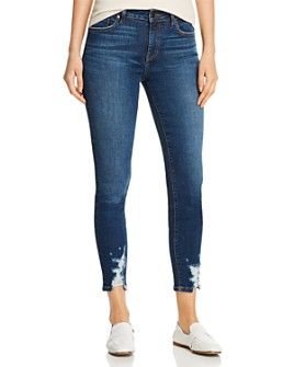 Level 99 - Madison Distressed Cropped Jeans in Phase