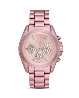 Michael Kors - Bradshaw Pink Aluminum Link Bracelet Chronograph, 43mm