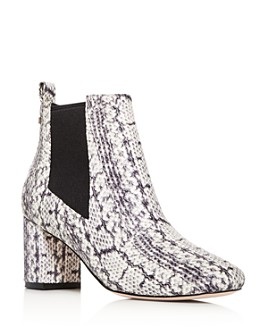Cole Haan - Women's Nitasha Python-Embossed Block-Heel Booties
